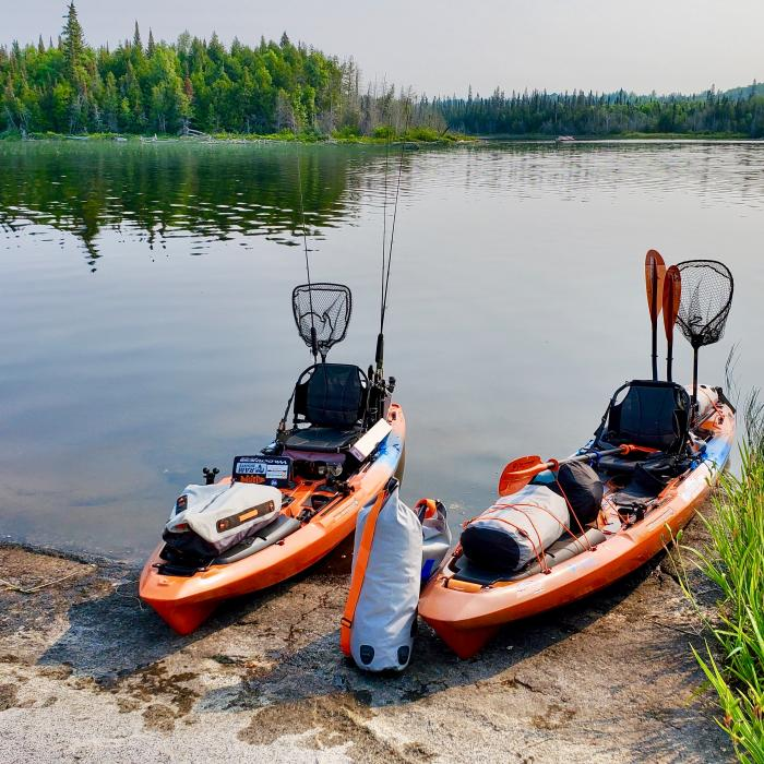 An image of two Wilderness Systems A.T.A.K 140 Geared Up