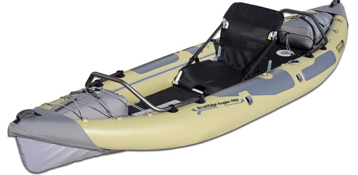 A display of the Advanced Elements Straightedge Angler Pro kayak
