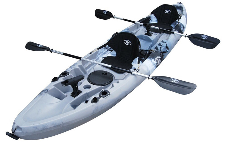 An image of the BKC TK219. One of he best 2 person fishing kayaks.