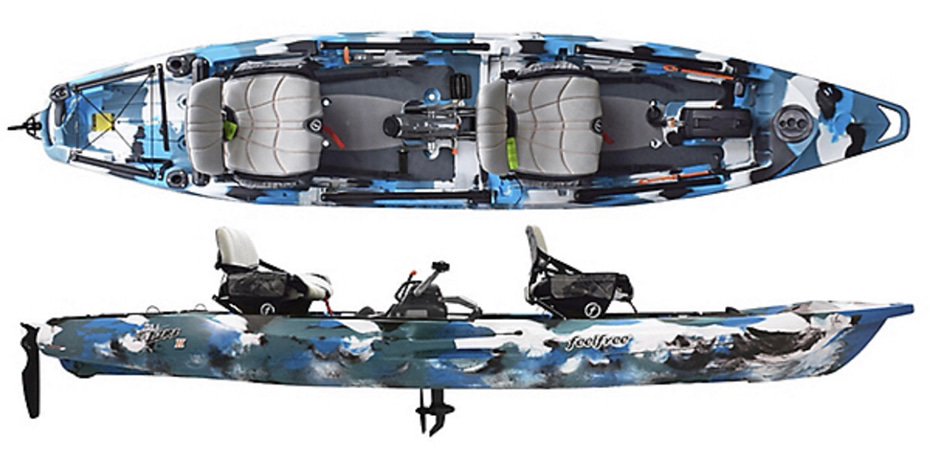 An image of the Feel Free Lure II.  #5 of the best 2 person fishing kayaks.