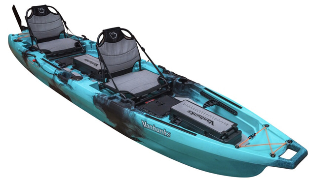 An image of the VanHunks Sauger. #7 on the list of the best 2 person fishing kayaks.