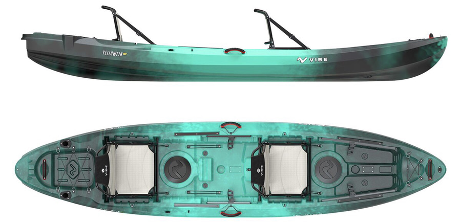 An image of the Vibe Kayaks Yellowfin 130T.