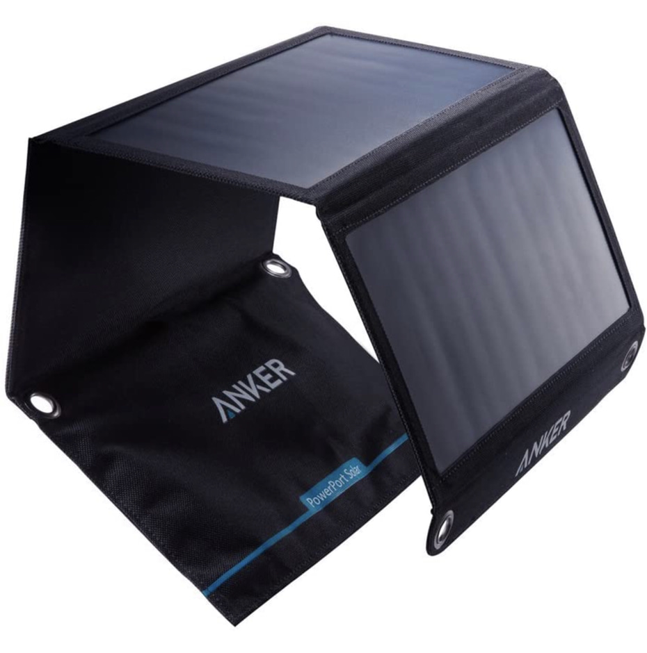 A display of the Anker PowerPort Solar Charger 21w