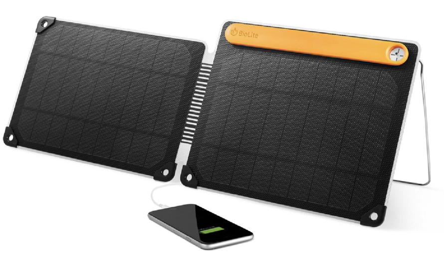 A display of the BioLite SolarPanel 10+