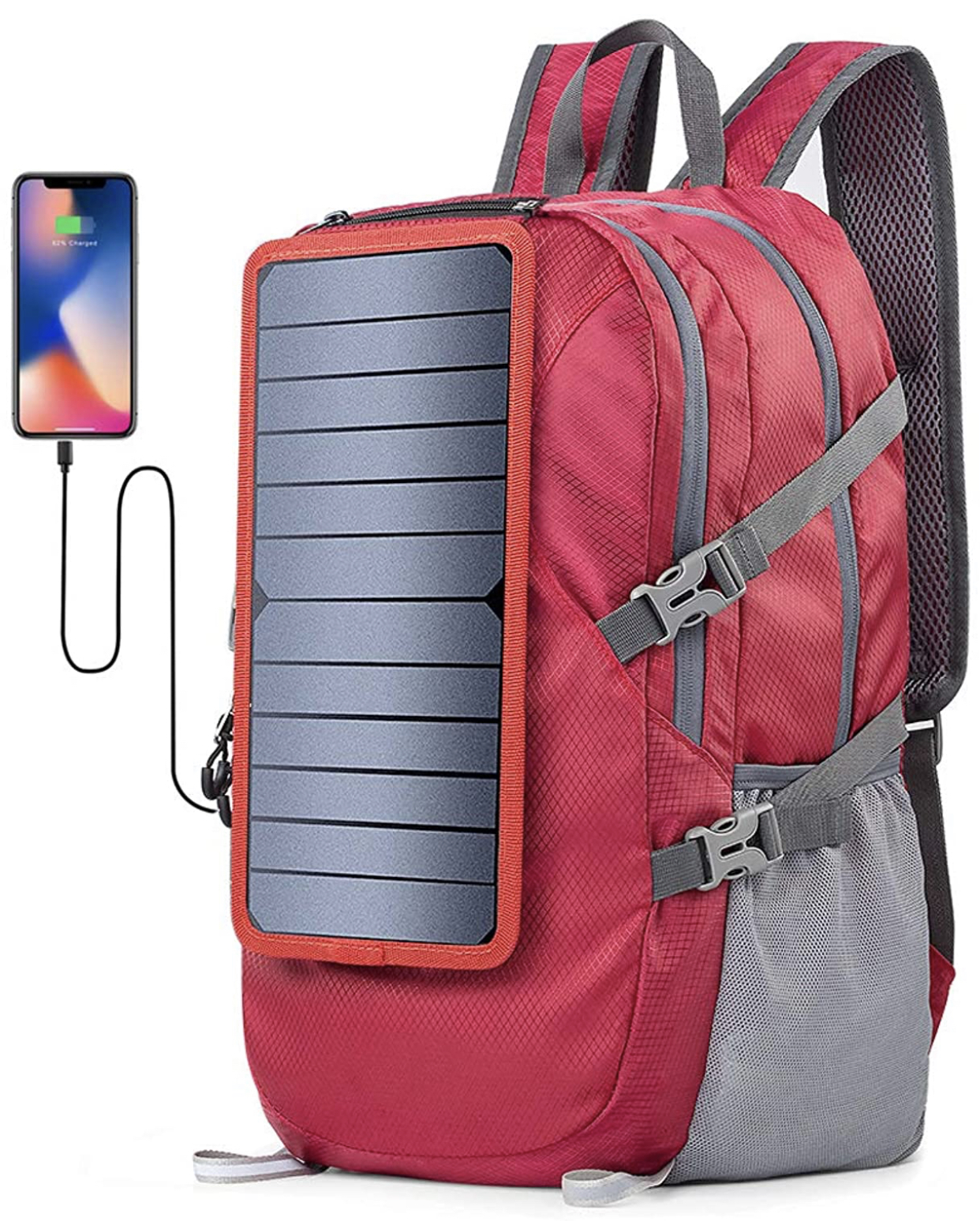 A display of the Eceen Solar Foldable Backpack