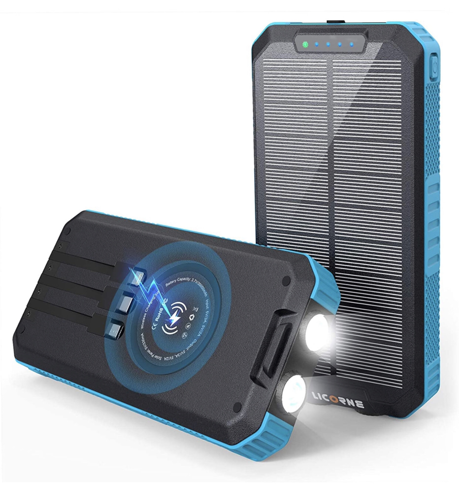A display of the Licorne 30000mAh Solar Charger