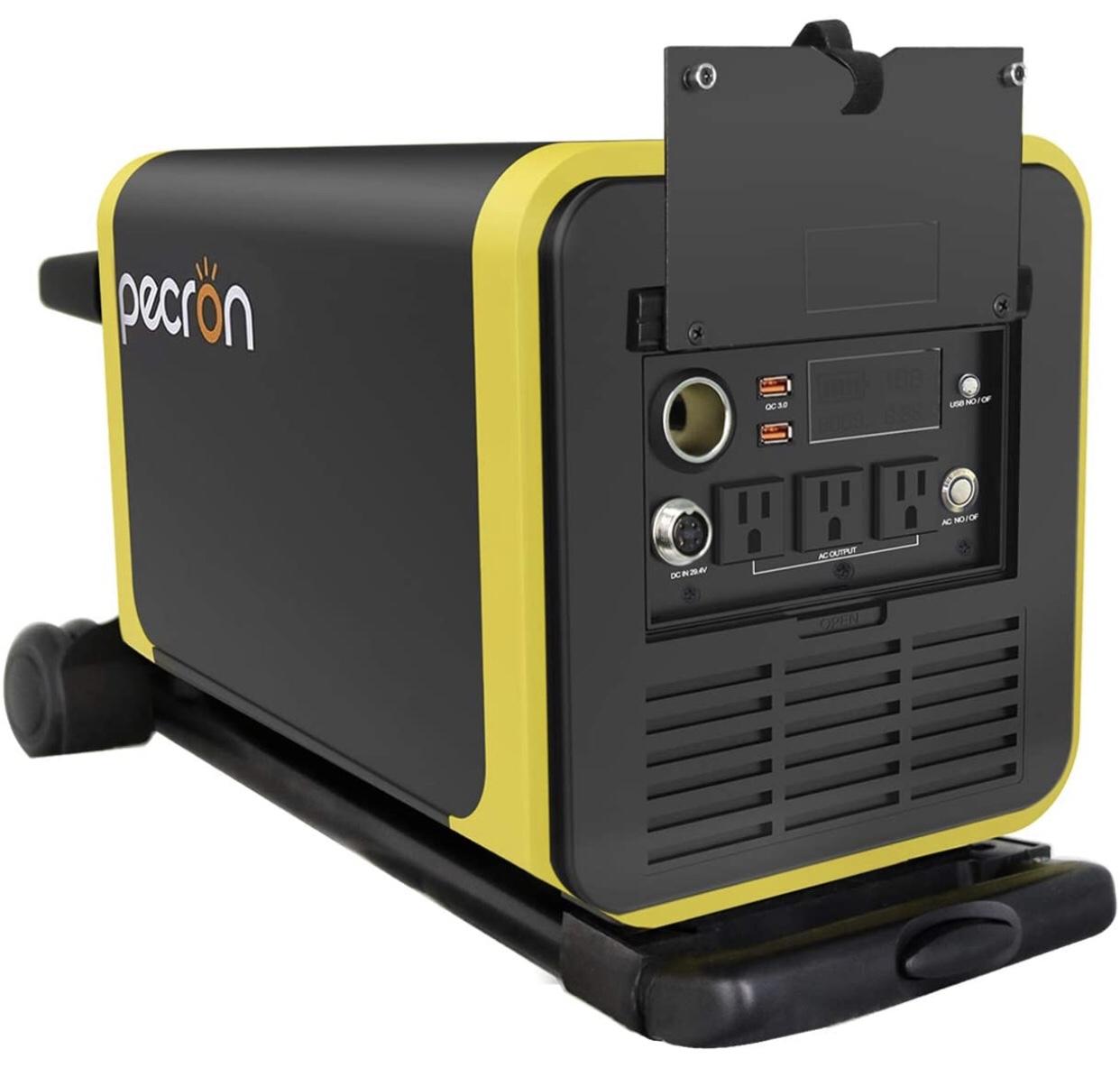 A display of the Pecron Q3000S Solar Generator